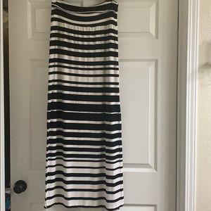 Athleta Striped Maxi Skirt